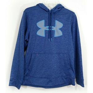 Under Armour coldgear blue hoodie